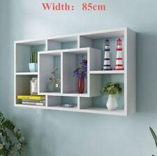 Floating Wall Shelves Display Shelf Bookshelf Storage Unit 8 Compartments Uk