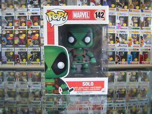 Funko Pop! Vinyl, Marvel, Deadpool, Solo (Green) #142 Vaulted, In Pop Protector!