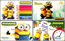 4x WALMART 2015 UNIVERSAL STUDIO MINIONS BACK 2 SCHOOL COLLECTIBLE GIFT CARD LOT