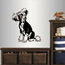 Wall Vinyl Decal E Chinese Crested Dog Breed Puppy Animal Pet Store Nursery 2235