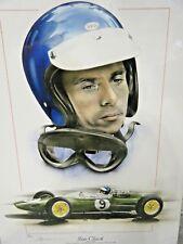 JIM CLARK LOTUS 25  F1 CHAMPION TRIBUTE 1963 1965 STUNNING LIMITED EDITION PRINT
