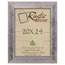 """20x24 - 3.5"""" Extra Wide Reclaimed Rustic Barn Wood Wall Frame"""