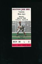 May 25 1998 Toronto Blue Jays @ Boston Red Sox Ticket
