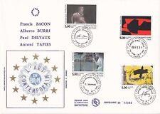 Enveloppe grand format 1er jour 1992 GF Soie Série artistique européenne