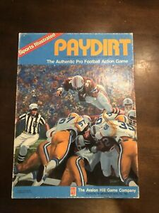 PAYDIRT Authentic Pro Football Action Game - 1985 Avalon Hill Sports Illustrated