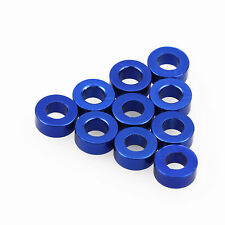 10PC 3mm x 6mm x 2mm Aluminum Alloy Blue Flat Washer/Spacer/Standoff