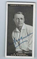 1928 Ogden's Australian Test Cricketers Donald Don Bradman RC rookie Signed Auto