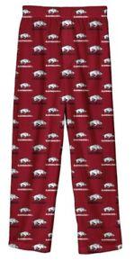 New NWT Arkansas Razorbacks Pajamas Pants Pjs Youth Boys Size XL X-Large 18/20