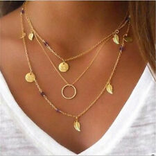 Fashion Charm Jewelry Multi-layer Chain Choker Statement Bib Pendant Necklace