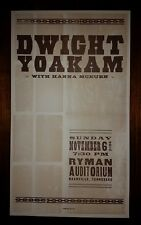 DWIGHT YOAKAM Ryman HATCH SHOW PRINT Nashville 2005 Tour Poster Hanna McKuen