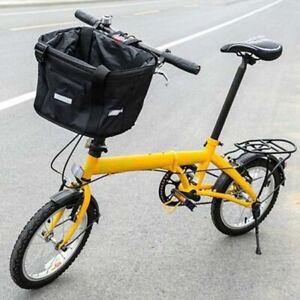 Bicycle Front Waterproof Foldable Bike Handlebar Basket Pet Carrier Frame Bag