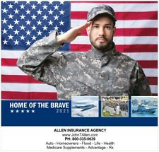 Home of the Brave Military 2021 Wall Calendar