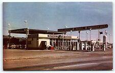 Postcard CA Healdsburg Laytonville Wittkes Chevron Gas Service Station 1950s R13