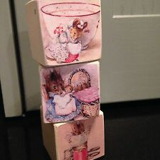 Beatrix Potter Wooden Blocks Nursery Vintage Very Shabby Chic