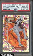 2018 Contenders Game Day Ticket Cracked Ice James Washington RC 10/23 PSA 10