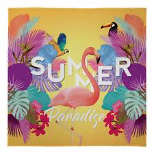 Large Warm Blanket Fleece Throw Summer Paradise Flamingo Bed Chair Sofa Car