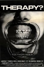 24/10/92PGN15 THERAPY : TEETHGRINDER SINGLE/TOUR ADVERT 7X10""