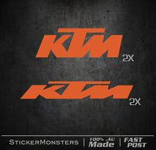 KTM Frame Fork Tank Sticker Decal Motor Bike Car Trailer Helmet Toolbox