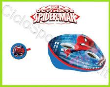 CASCO + CAMPANELLO Spiderman Bimbo / Bambino / Bimba   ideale per bicicletta