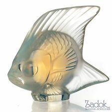 """Lalique Frosted Crystal Fish Figurine, Opal, 1.77"""" Tall"""