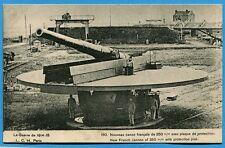CPA: Nouveau canon français de 350 m/m avec plaque de protection / Guerre 14-18
