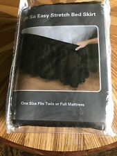 Twin/Full Dark Brown Stretch Bed Skirt