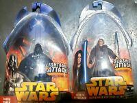 Lot of 2 NIB Action Figures - Anakin Skywalker & Darth Vader Star Wars ROTS NIB
