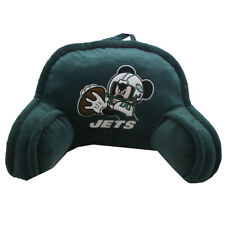 """Northwest NFL New York Jets Mickey Mouse Embroidered Bed Rest Pillow 12"""" X 20""""In"""