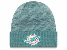 312978b0c Miami Dolphins New Era NFL 2018 NFL Sideline Cold Weather Official TD Knit  Aqua