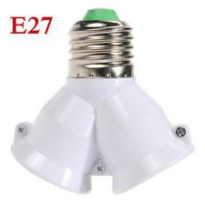 2 in 1 E27 Lamp Socket Splitter Adapter Light Double Y Bulb Base Stand Holder