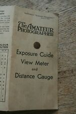 Amateur Photographer   Exposure guide & view meter/distance gauge