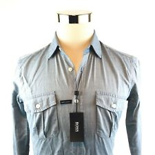 Hugo Boss Blue Ramsey Slim Fit Button Down Shirt Sz- Small