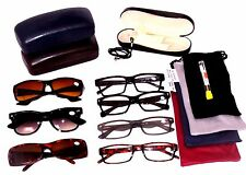 CLOSEOUT LOT 5 PACK  READING GLASSES 4 Soft Cases 1 Hard Case MEN +2.00 MRS54749