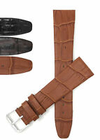 Bandini Watch Band, Leather Strap, Semi-Glossy, 10mm - 20mm Extra Long Also