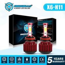 IRONWALLS 4 sides H11 H9 H8 CREE LED Headlight 1800W 270000LM White 6000K Bulbs