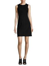 Theory Black Raneid NC Jetty Stretch Cotton Sheath Dress Size 8 LBD