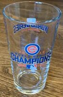 2016 Chicago Cubs World Series Champions MLBP 16oz Glass