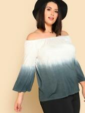 NEW..Gorgeous Plus Size Ombre Off the Shoulder Bardot Top.Sz20/3XL
