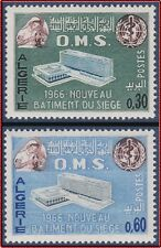 ALGERIE N°424/425** OMS , 1966 ALGERIA WHO set MNH