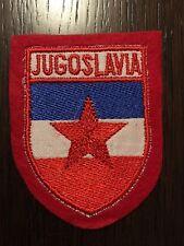 Patch toppa CM8X6 scudetto in stoffa ricamato JUGOSLAVIA