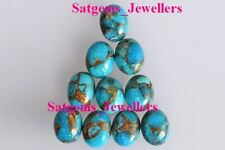 Lot 3x5mm - 10x14mm Oval Cabochon- Natural Blue Copper Turquoise Loose Gemstone