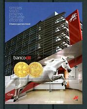 Portugal 2016 MNH Banco CTT Launch 1v M/S Horses Banks Banking Coins Stamps