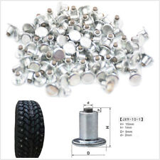 100 Pcs Metal Car Motorcycle Tires Tyre Winter Studs Spikes Chains Non-slip Stud