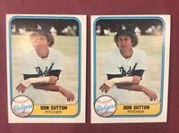 1981 Fleer Baseball Card #112 Don Sutton Lot of (2)!!