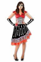 Day of the Dead Kleid Damen Kostüm Halloween Karneval Fasching Verkleidung