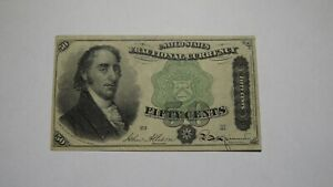 1874 $.50 Fourth Issue Fractional Currency Obsolete Bank Note Bill! Dexter XF+