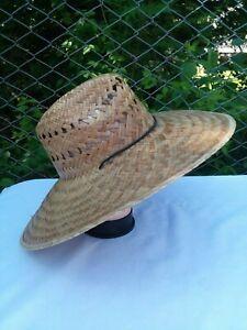 17x17'' Mens & Womens Gardener ,Straw hat,Sombrero de palma Fresca para Trabajo
