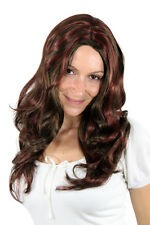 brown peluca ROJA MECHAS Voluminoso s-12-8-35 50cm