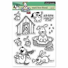 Penny Black Clear Stamps - Man's Best Friend - Dog, Dogs, Belated Birthday