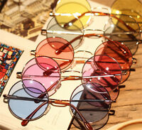 Colorful Women Retro Round Glasses Lens Sunglasses Eyewear Plastic Frame Glasses